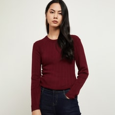 MAX Ribbed Round-Neck Sweater