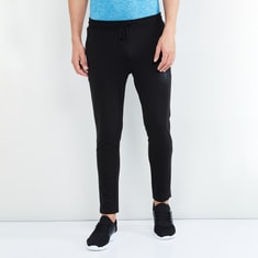 MAX Drawstring Waist Track Pants with Patch Print