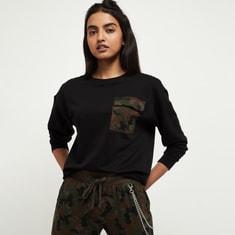 MAX Solid Round Neck Sweatshirt