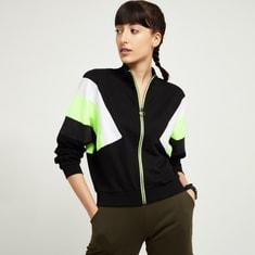 MAX Colourblocked Zip-Through Sweatshirt