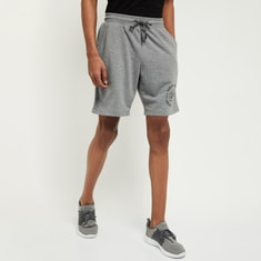 MAX Printed Sports Shorts with Slant Pockets