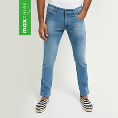 MAX Washed Smart Casual Denim Jeans