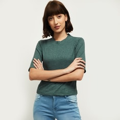 MAX Textured Knitted Top