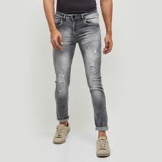MAX Men Distressed Skinny Fit Jeans
