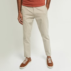 MAX Striped Carrot Fit Chinos