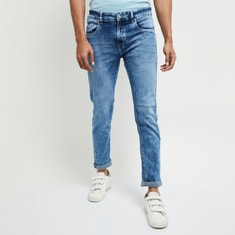 MAX Men Stonewashed Slim Fit Jeans