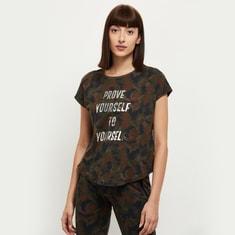 MAX Typographic Print Round Neck Sports T-shirt