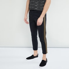 MAX Cropped Trousers with Contrast Taping