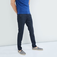 MAX Printed Skinny Fit Casual Trousers