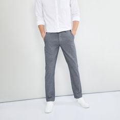 MAX Solid Drawstring Trousers