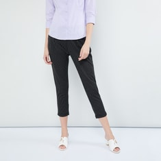 MAX Striped Cropped Treggings