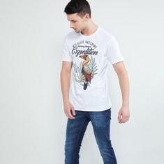 MAX Printed Slim Fit Crew-Neck T-shirt