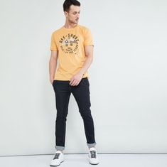 MAX Printed Slim Fit Crew-Neck T-shirt
