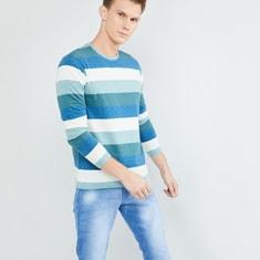 MAX Striped Full Sleeves T-shirt