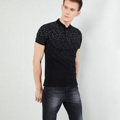 MAX Printed Short Sleeves Band Collar T-shirt