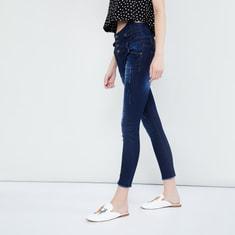 MAX High Waist Skinny Fit Distressed Jeans