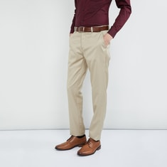 MAX Solid Regular Fit Trousers