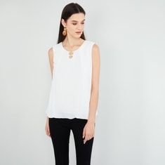 MAX Solid Sleeveless Top
