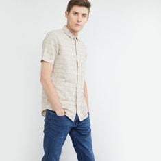 MAX Checked Slim Fit Short Sleeves Shirt