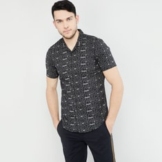 MAX Typographic Print Short Sleeves Shirt