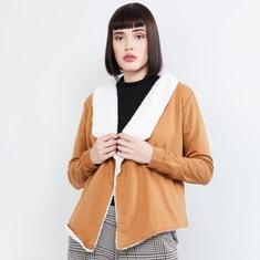 MAX Faux Fur Open-Front Jacket