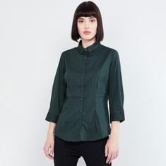 MAX Solid Three-Fourth Sleeves Shirt