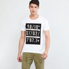 MAX Typographic Print Slim Fit Crew Neck T-shirt