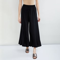 MAX Solid Culottes with Drawstring Detail