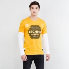 MAX Typographic Print Full Sleeves Crew Neck T-shirt