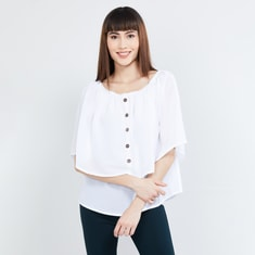 MAX Checked Layered Bardot Top