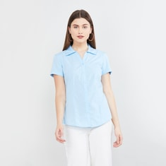 MAX Solid Half-Sleeved Shirt