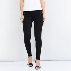 MAX Embellished Mid-Rise Skinny Fit Treggings