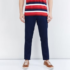MAX Checked Pleated Casual Trousers