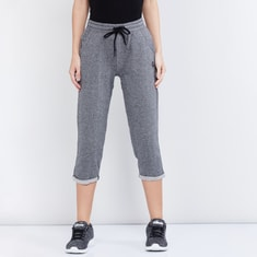 MAX Textured Elasticated Three-Fourth Pants