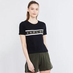 MAX Printed Cap Sleeves Training T-shirt