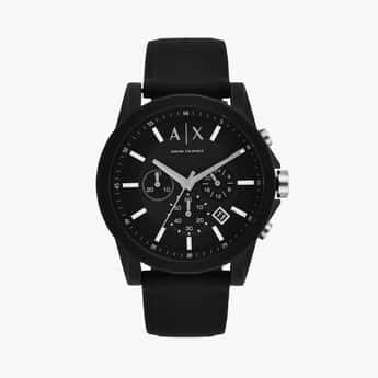 ARMANI EXCHANGE Men Chronograph Watch with Silicone Strap - AX1326