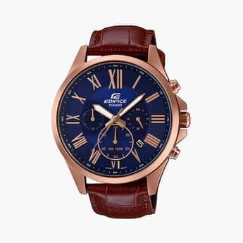 CASIO Men Chronograph Leather Strap Watch - EFV-500GL-2AVUDF