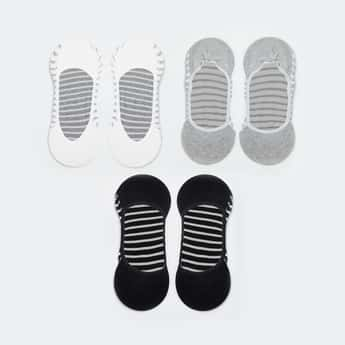 GINGER Women Striped No-Show Socks - Pack of 3
