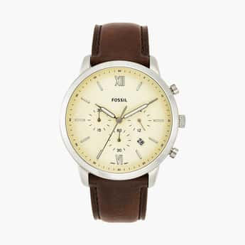 FOSSIL Men Analog Watch with Leather Strap - FS5380
