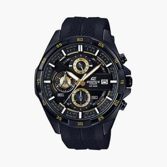 CASIO Men Chronograph Watch with Resin Strap - EX385