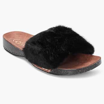 CATWALK Faux-Fur Flat Sandals
