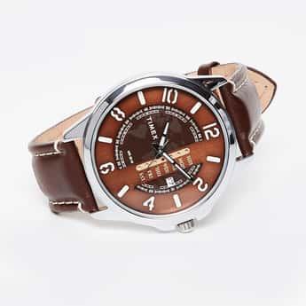 TIMEX Brown Leather Men's Wristwatch-TWEG16503