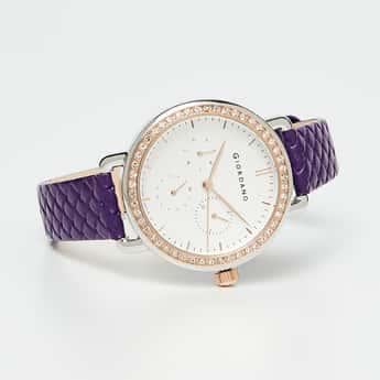 GIORDANO Women Mix Leather Wristwatch-2938-04