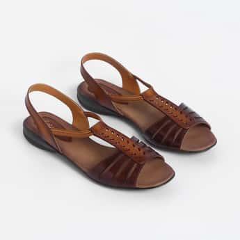 CATWALK Peep-Toe Genuine Leather Sandals