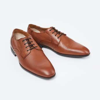 RUOSH Textured Formal Derby Shoes