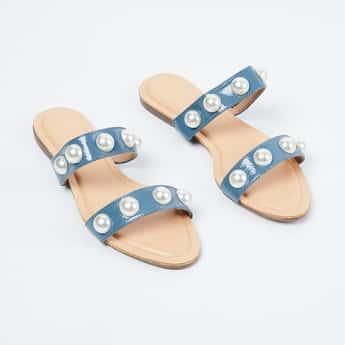 CATWALK Embellished Strap Flats