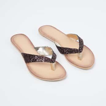 CATWALK Embellished V-strap Flats