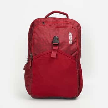 AMERICAN TOURISTER Men Textured Laptop Backpack with Rain Cover