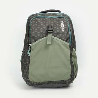 AMERICAN TOURISTER Men Geometric Print Laptop Backpack with Rain Cover