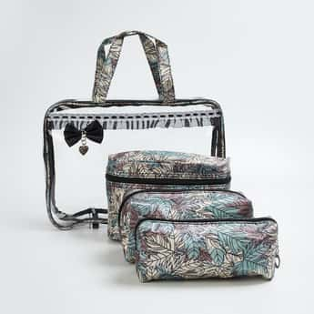 GINGER Printed 3-Pc. Cosmetic Pouch Set
